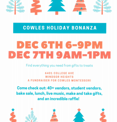 Cowles Montessori Crier – Week of December 2nd